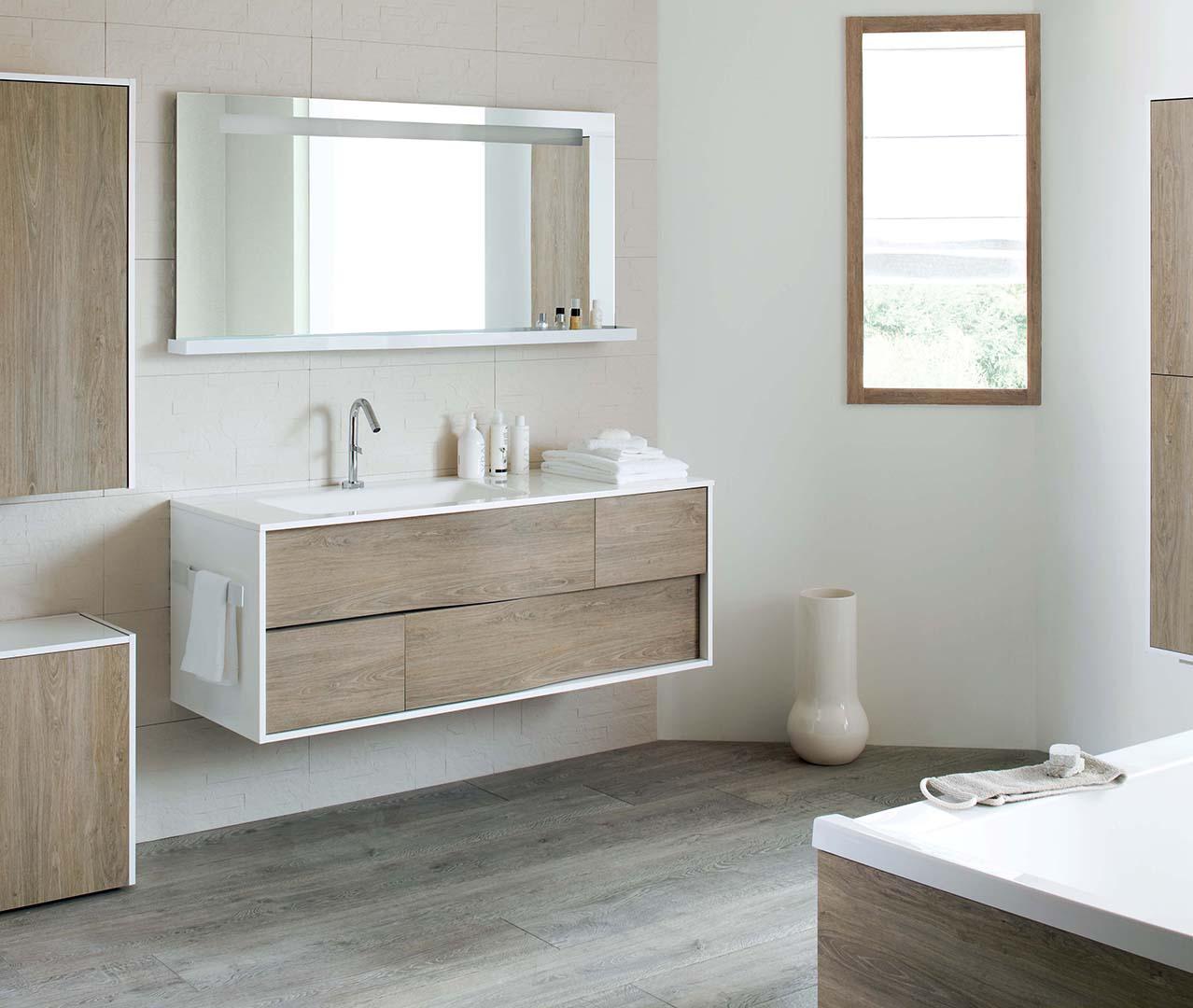 Gamma my lodge houten badkamermeubel sanijura - Sanijura salle de bain ...