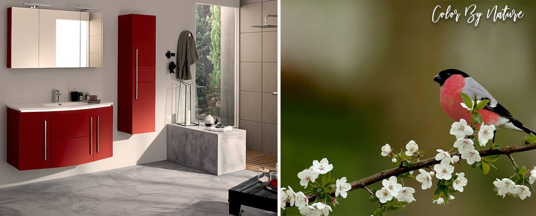 badkamermeubel Soon rood - Sanijura