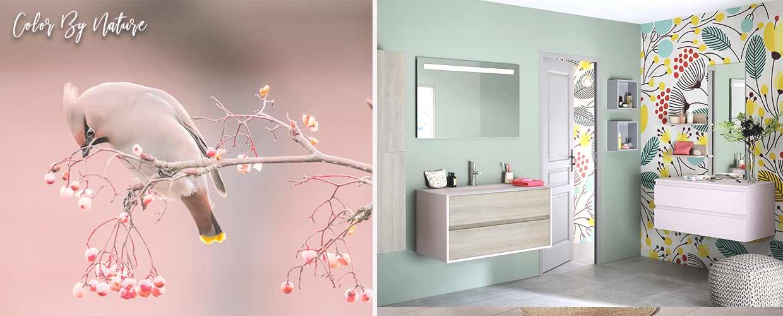 badkamermeubel Frame roze - Sanijura